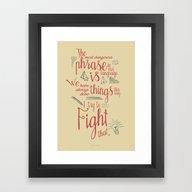 Grace Hopper Sentence - … Framed Art Print