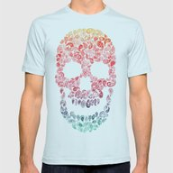 Death By Paisley Mens Fitted Tee Light Blue SMALL