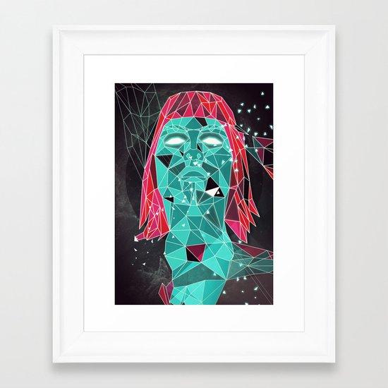 triangular stare Framed Art Print