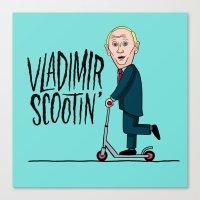Vlad Scootin Canvas Print