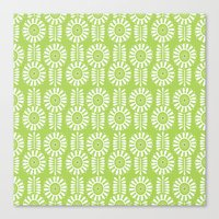 Think Spring: Green Canvas Print