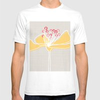 Cherry Blossom: Stone Mens Fitted Tee White SMALL