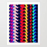 Spectrum Cubes / Pattern… Art Print
