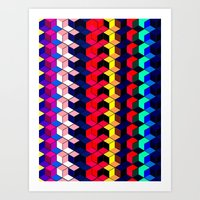 Spectrum Cubes / Pattern #7 Art Print