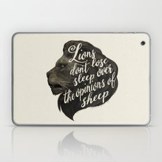 Lions don't lose sleep over the opinions of sheep Laptop & iPad Skin