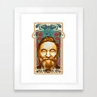 Robin Williams Tribute Art Nouveau / Geek Poster / Fine Art Print Tribute by Tom Ryan's Studio Framed Art Print