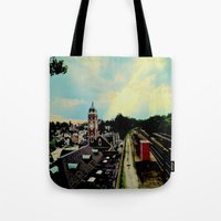 Waiting For A Train In G… Tote Bag