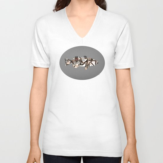 Digital Fish 2 V-neck T-shirt