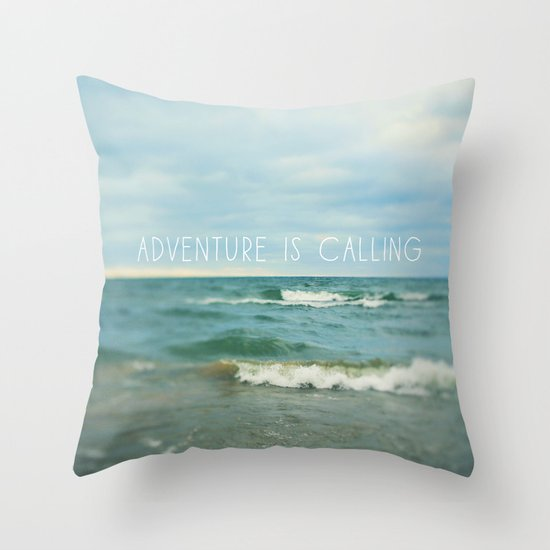Adventure is Calling - Waves Throw Pillow