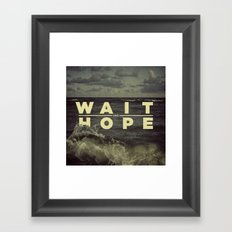 All of Human Wisdom in Two Words Framed Art Print