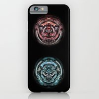 iPhone & iPod Case featuring The caterpillar machinery red and cyan brothers by EduardoTellez