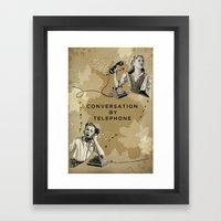 Conversation By Telephon… Framed Art Print