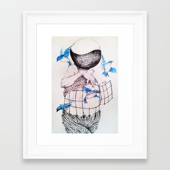 Human flight Framed Art Print