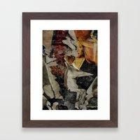 Peeling: Blonde Woman Framed Art Print