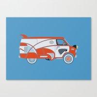 Pee Wee's Big Adventure Van Canvas Print