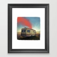 Framed Art Print featuring Breaking Bad by Robotrake
