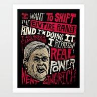 Art Print featuring Newt Power by Chris Piascik