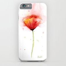 Poppy Flower Watercolor Abstract Red Floral Painting iPhone 6 Slim Case