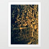 Catacomb Bones Art Print