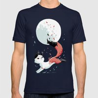 Shedding Mens Fitted Tee Navy SMALL