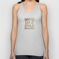 UNTO US A CHILD IS BORN (Isaiah 9:6) Unisex Tank Top