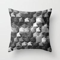 as the curtain falls (monochrome series) Throw Pillow