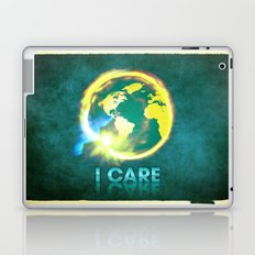 I Care / Blue Laptop & iPad Skin