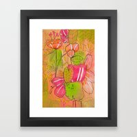 Pink Orange Framed Art Print