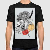 Flower bouquet Mens Fitted Tee Tri-Black SMALL
