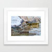 Yellowstone Hot Springs Framed Art Print