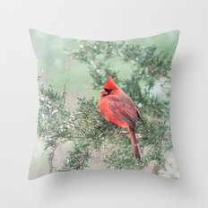 Christmas Snow Flurries … Throw Pillow