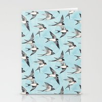 Blue Sky Swallow Flight Stationery Cards
