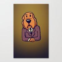 Dog News Canvas Print