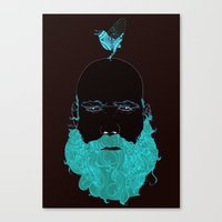 Beard and Bird Canvas Print