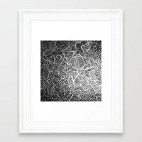 Silver Vivid  Framed Art Print