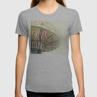 F∞REVER Womens Fitted Tee Athletic Grey SMALL
