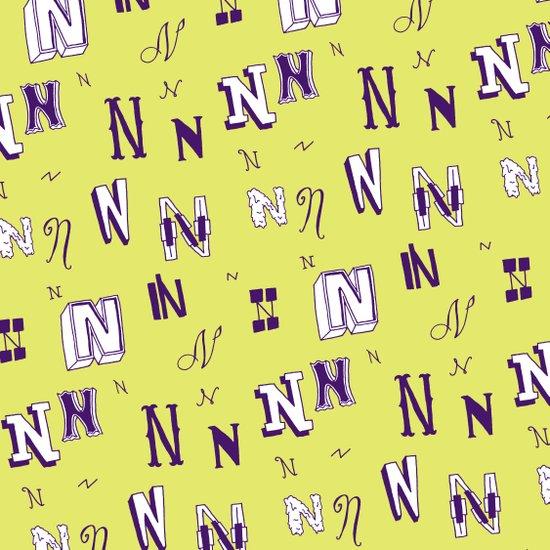 Letter Patterns, Part N Art Print