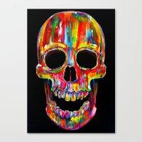 Chromatic Skull Canvas Print
