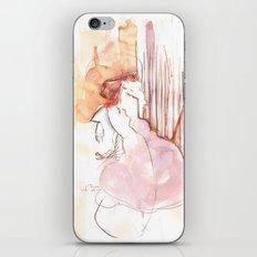 Cloud Mouth: Orange and Magenta iPhone & iPod Skin