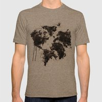 Wild World Mens Fitted Tee Tri-Coffee SMALL