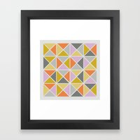 Hip Square Framed Art Print