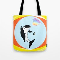 Best Friends Forever Whale and Penguin Tote Bag