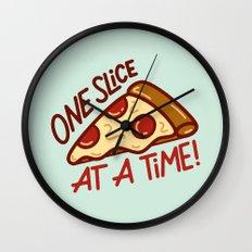 One Slice Wall Clock