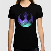 Cosmic Rebel Alliance Womens Fitted Tee Black SMALL