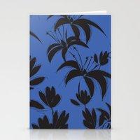 Black And Dark Blue Nigh… Stationery Cards