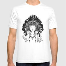 Native American Girl Mens Fitted Tee White SMALL