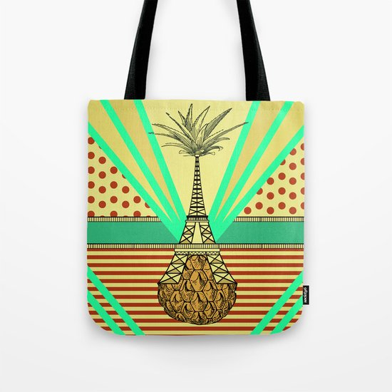 Pineapple architecture 4 : Eiffel Tower Tote Bag