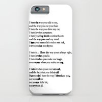 10 Things i Hate About You - Poem iPhone 6 Slim Case