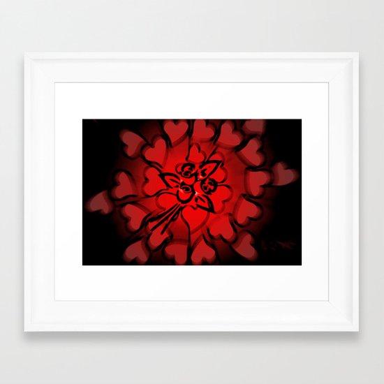 In love. Framed Art Print