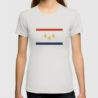 new orleans city flag united states of america Womens Fitted Tee Silver SMALL